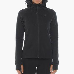 Nike Black Tech Fleece Windrunner Full Zip Hoodie